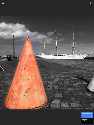 Color Splash Effekt mit Snapseed - Schritt 8