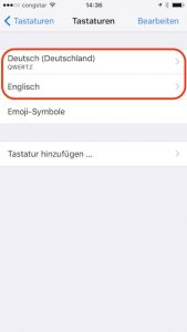 iOS 10 kann zweisprachig