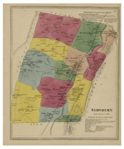 The districts of Simsbury in 1869 reflected the regions established during the settlement of the town.