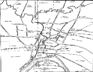 Map of colonial Hartford