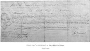 Promotion of Selah Hart to Brigadier-General