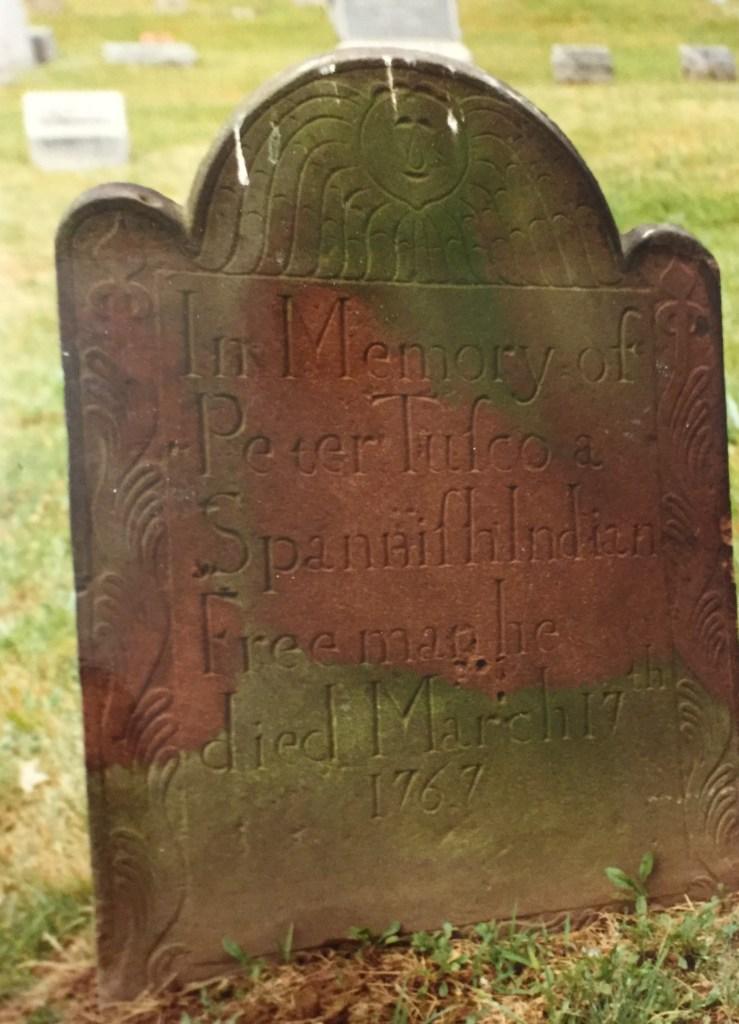 (c) Nelsonian Institute 1990 Gravestone of Peter Tusco