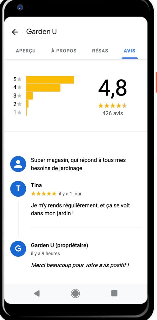 Les avis sur GoogleMyBusiness DigitalFeeling