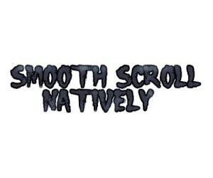 Smooth Scroll in native Javascript/css