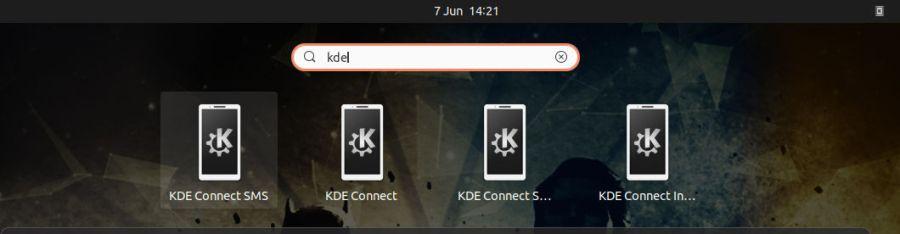 KdeConnect - dash