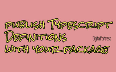 publish typescript definitions with your package