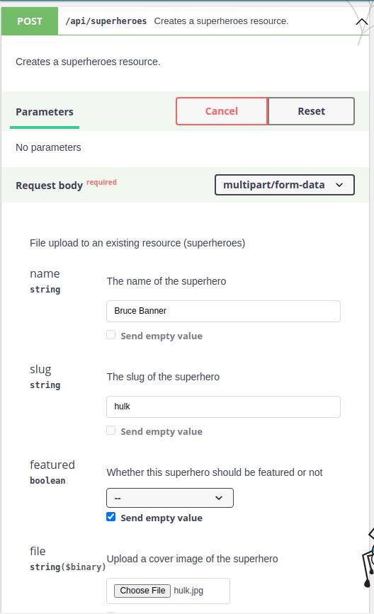 File upload API platform dedicated resource