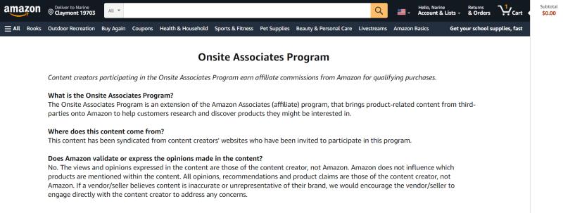 Onsite Associates Program
