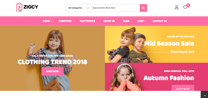 Free wordpress theme download zigcy baby