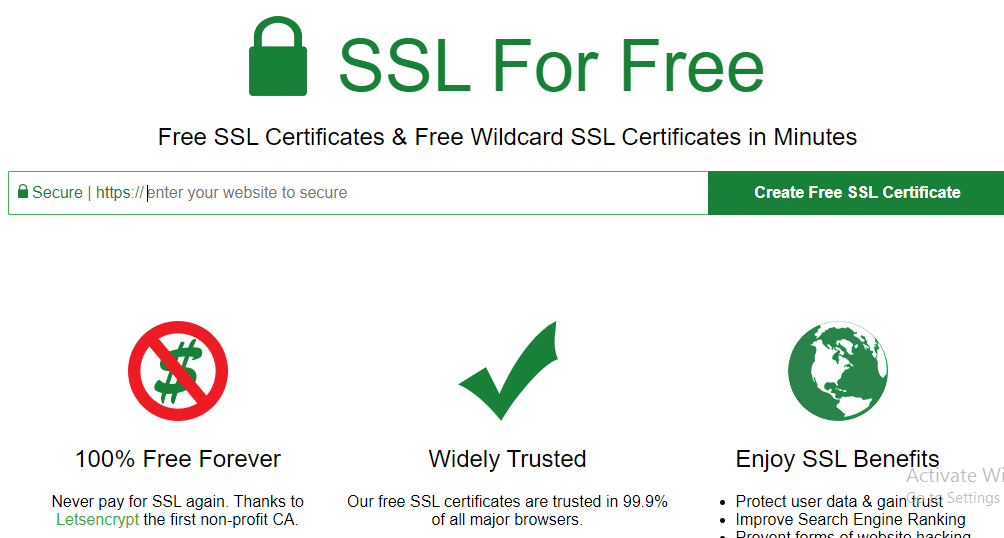 Free SSL Certificate for All in Hindi