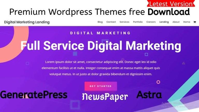 Premium Wordpress Themes free Download