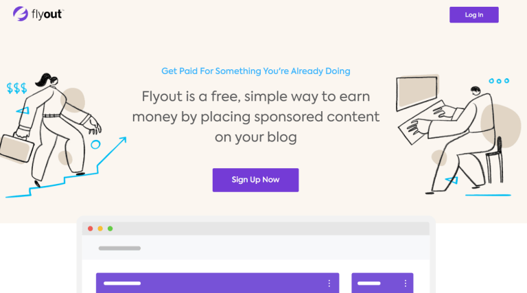 flyout sponsored post