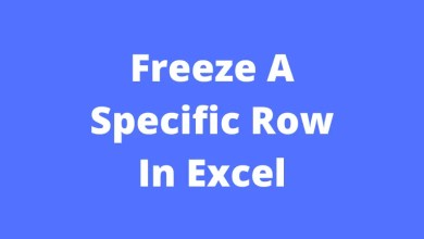 Freeze A Specific Row In Excel