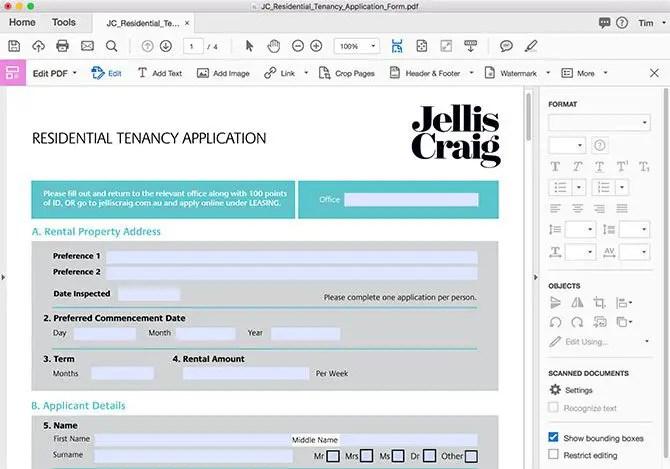 edit pdf mac - Adobe Acrobat Pro DC Editing Tools