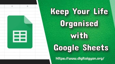 keep your life organised with google sheets