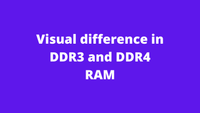 Visual difference in DDR3 and DDR4 RAM