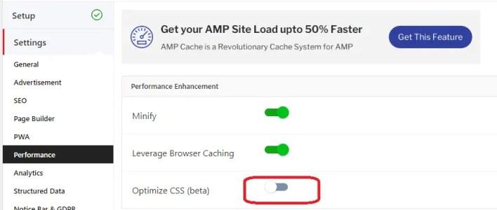 AMPforWP CSS Optimization