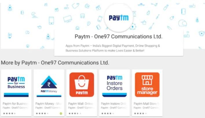 Paytm apps