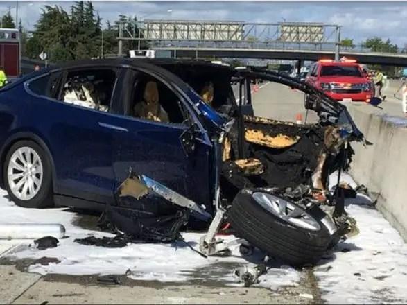 car accident of tesla