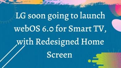 LG Smart WebOS 6.0