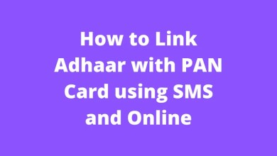 How to Link Adhaar with PAN Card using SMS and Online