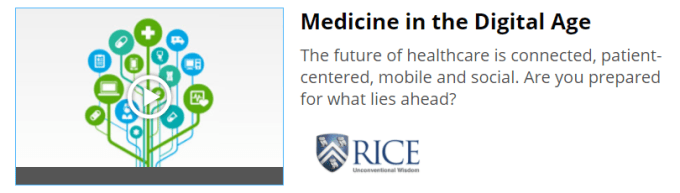 digital health online course Medicine in the Digital Age