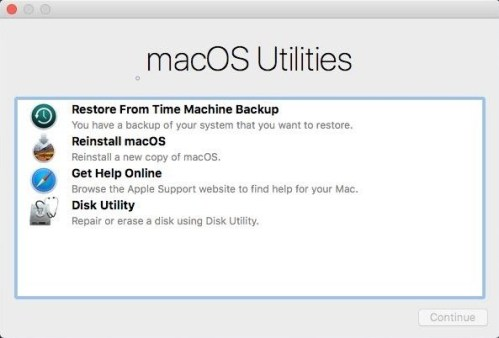 macOS Utilities - macOS Recovery