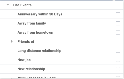 life-event-facebook-ads