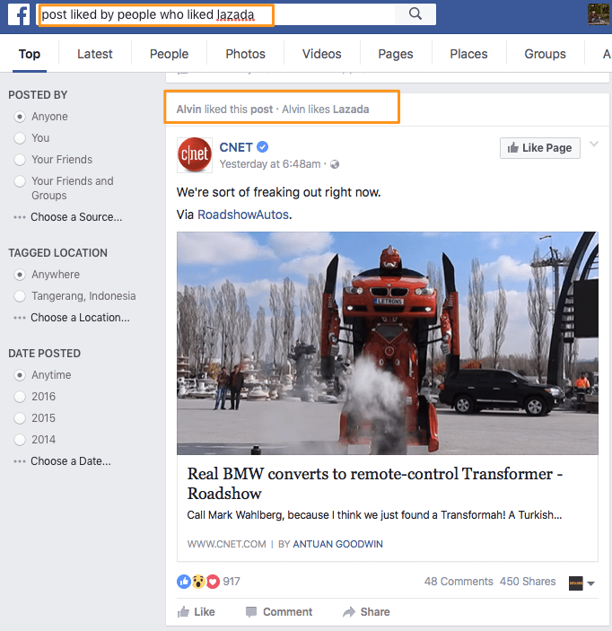 cara targeting facebook ads