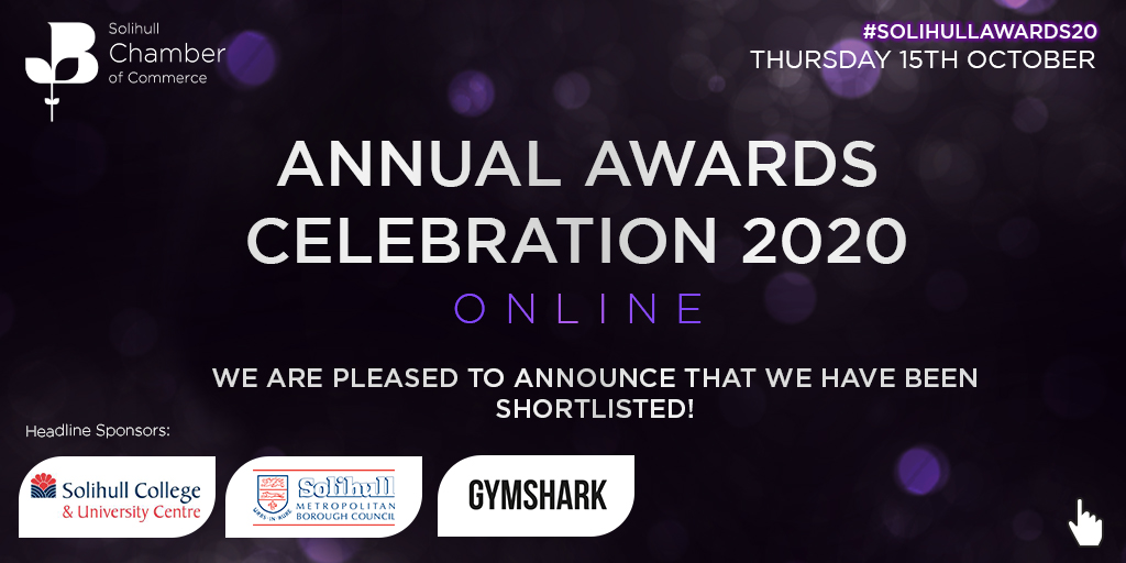 Digital Innovators is Shortlisted in the Solihull Chamber Awards 2020