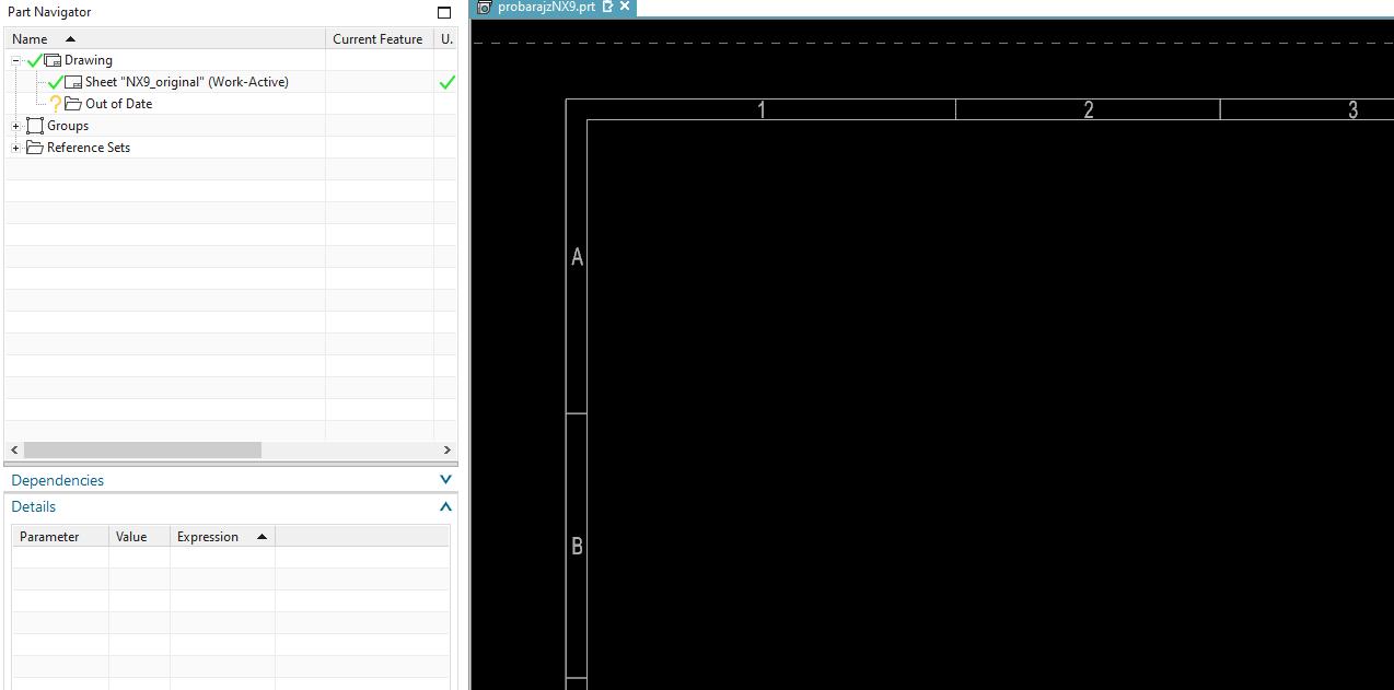 NX 10 előtt készült rajzsablonok használata