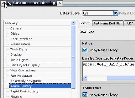Reuse Library használata NX
