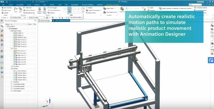 NX Animation Designer modulban