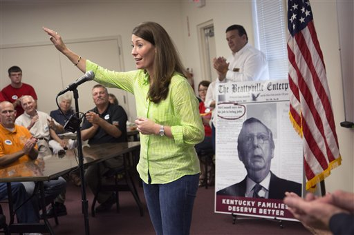 Democratic candidate Alison Lundergan Grimes is fired up and ready to take on incumbent Republican Mitch McConnell for Kentucky senator.