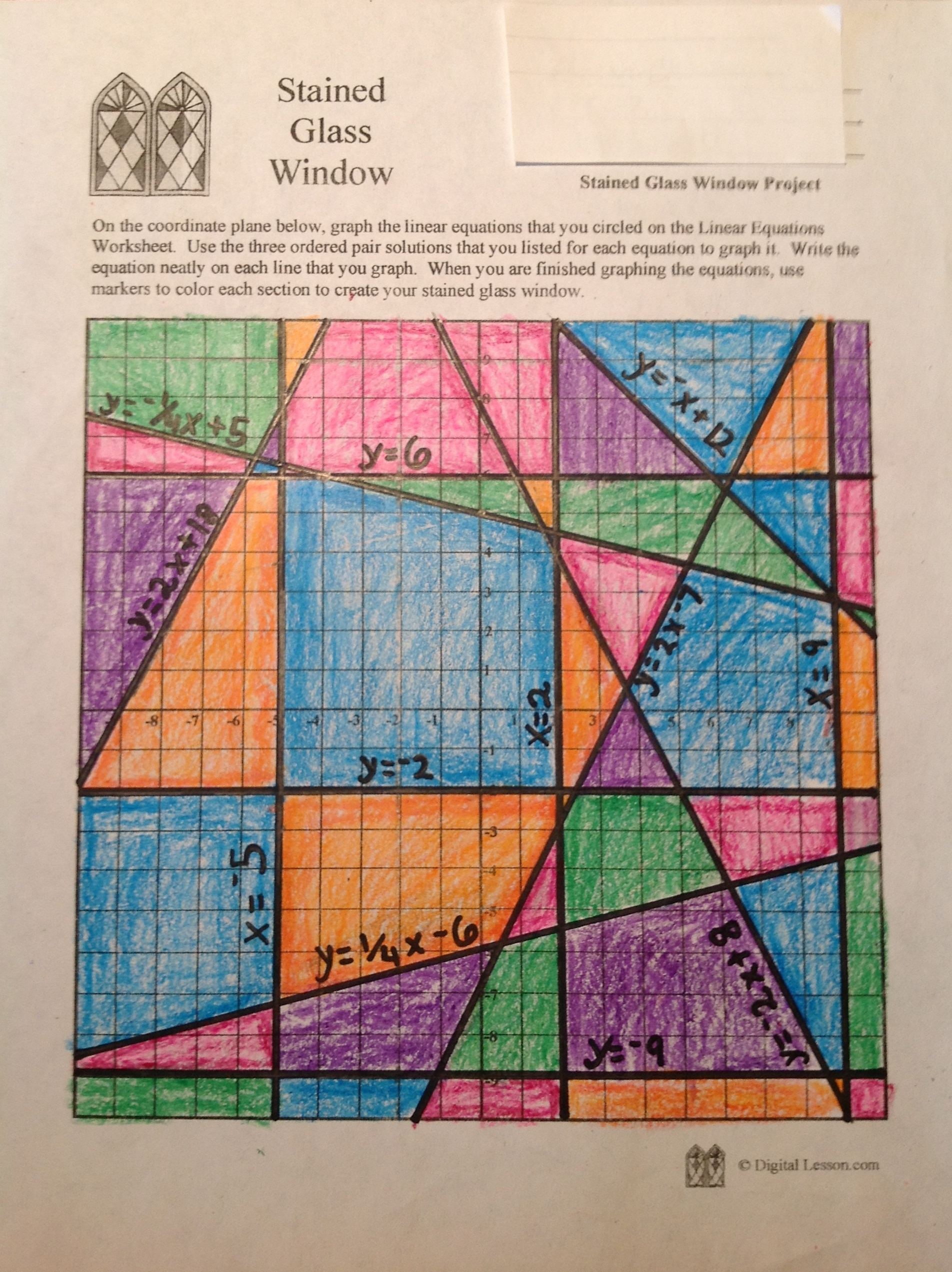 Stained Glass Math Activity