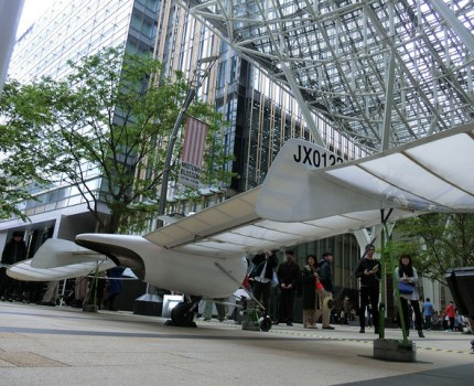 CASIO EX-100 メーヴェを現実にしたOpenSky M-02Jと作者の八谷和彦氏のトーク
