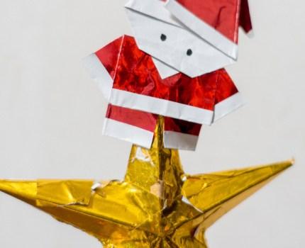 簡単でかわいいサンタの折り紙の折り方
