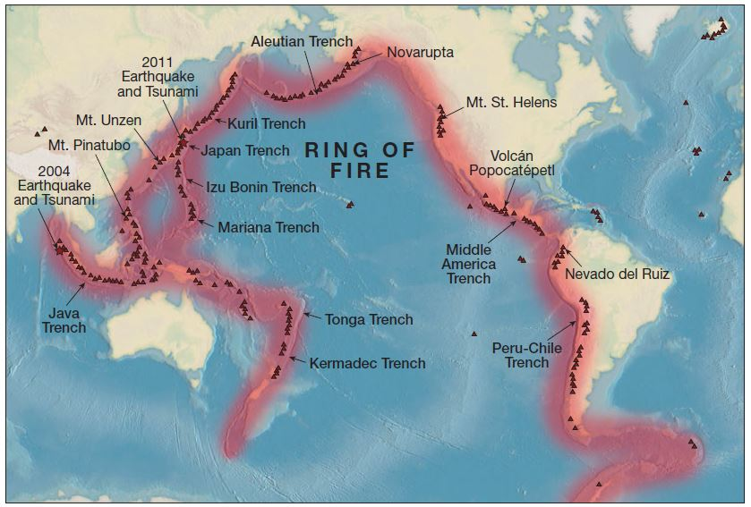 What is the Pacific Ring of Fire and Map   UPSC - IAS