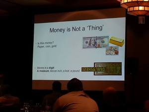 Money is not a Thing