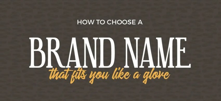 choose brand name for new company