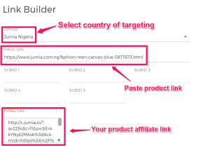 how to build links on jumia affiliate