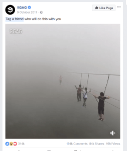 tag a friend post
