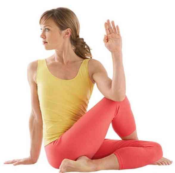 Sciatica Pain Relief Yoga Pose Seated Twist