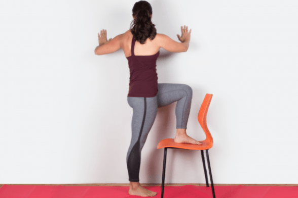 yoga poses for sciatica pain Standing Wall Twist