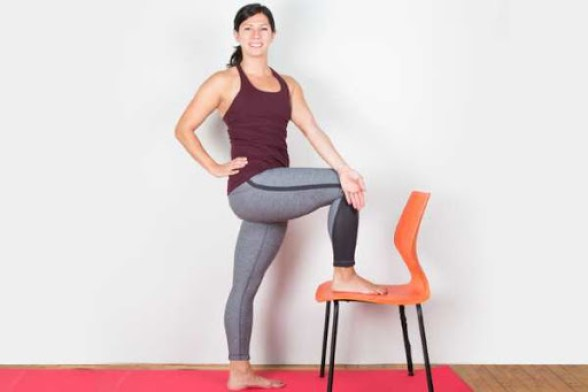 Sciatica Pain Relief Yoga Pose Standing Twist
