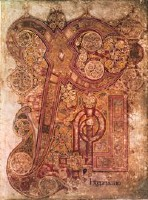 Chi-Rho page of The Book of Kells