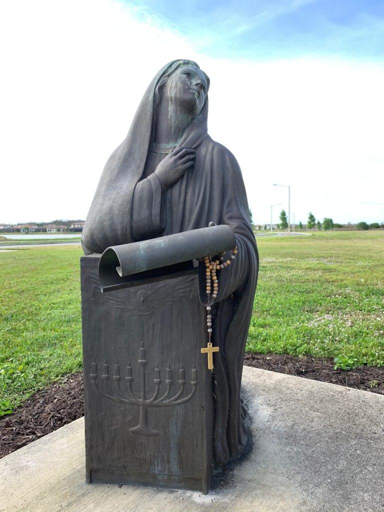 Virgin Mary image at the main entrance