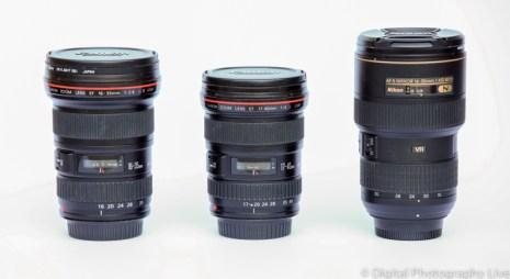 Canon EF 16-35 f/2.8L & EF 17-40 f/4L & Nikon 16-35 f/4