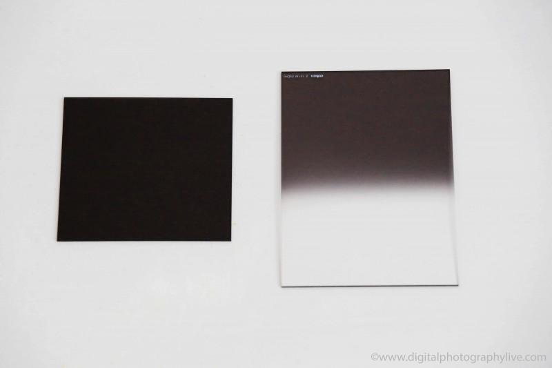 Neutral Density (L) vs Graduated Neutral Density (R) Filters