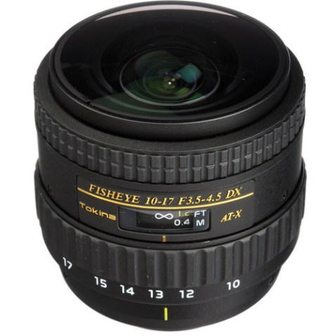 Tokina 10-17mm f/3.5 - 4.5 AT-X 107 AF DX NH Fisheye Lens